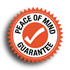 click for more information on our peace of mind guarantee